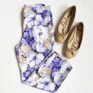 Gloria Vanderbilt | Floral Cropped Trousers